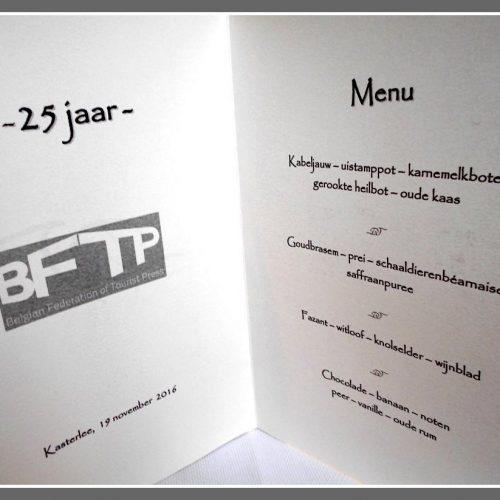 Het menu.
