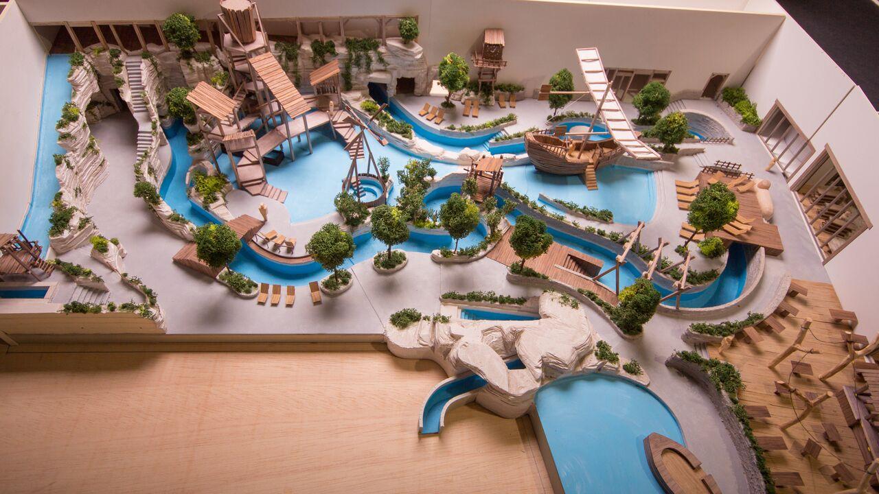 Maquette van Bellewaerde Aquapark