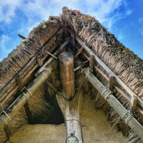 Manier van bouwen in de prehistorie- zonder nagels...pin en gat...
