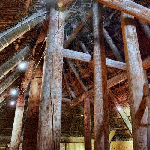 reconstructie van een prehistorische woning