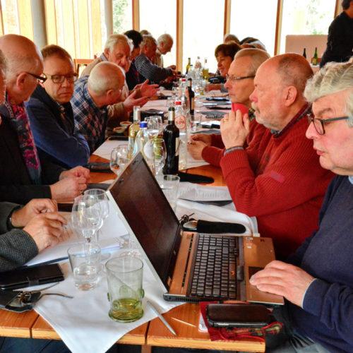 De raad van bestuur vergadert- in afwachting van de lunch