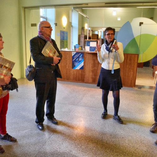 Madame Jeannine Wauters leidde ons rond in het museum-  we kwamen tijd te kort - zo gedreven kon ze over elk object uitleggen!