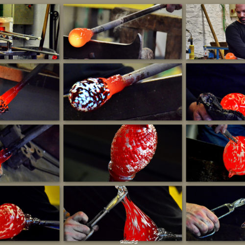 The Atelier du Val ...The work and talent of the Master glassmaker lived live. In front of you the creation of a unique piece.