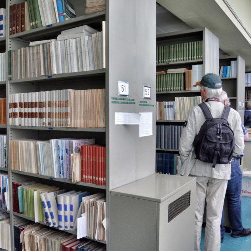 In de bibliotheek...