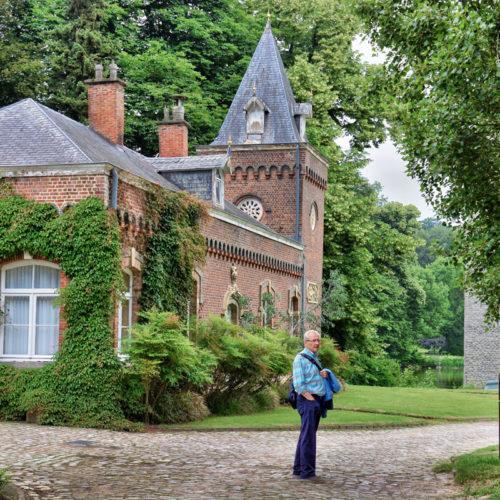 -  Op naar het kasteel van Boechout- ooit bezit van de adelijke familie Van Arenberg-verblijf van de keizerin van Mexico, zus van koning Leopold II ... nu een parel van het domein Meise