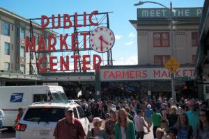 Publiekstrekker nr.1 van Seattle is de Pike Place Market