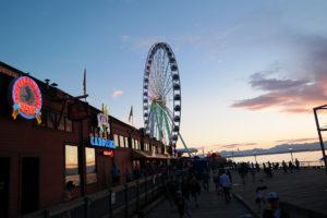 Zonsondergang aan het Waterfront