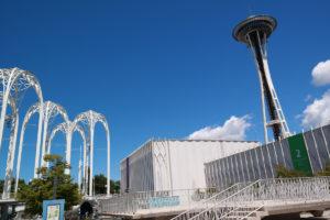Overblijfselen van Expo 1962: het Pacific Science Center en de Space Needle