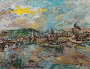 Oskar Kokoschka Der Prager Hafen 1936 (c) Belvedere Austria