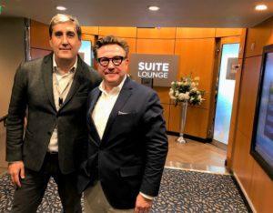 Massimiliano Gianvenuti (RCL Ltd) en Peter Mathieu (CEO CruiseConnection)