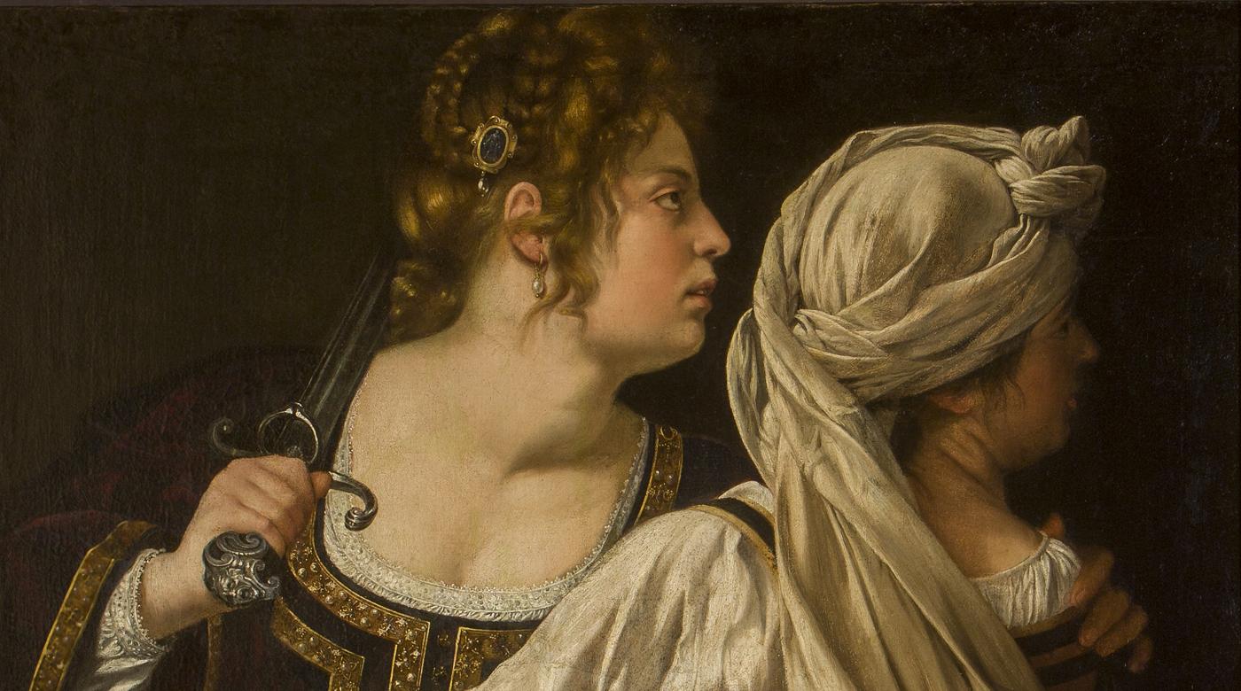 Campagnebeeld: Artemisia Gentileschi, Judith en haar meid met het hoofd van Holofernes (detail), ca. 1613  (Gallerie degli Uffizi, Firenze)