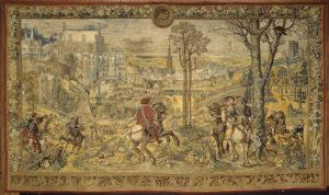 De jachten van Karel V. De maand maart (teken van de Ram) c. 1531–33, Musée du Louvre, Département des Objets d'art, Paris © RMN-Grand Palais (Musée du Louvre) / Daniel Arnaudet