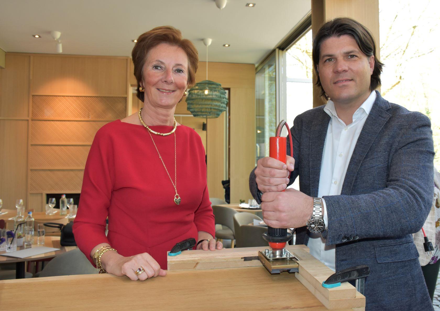CEO Lunch Garden Annick van Overstraeten en Gedeputeerde Igor Philtjens