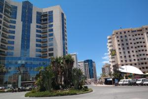 Het nieuwe gedeelte van Gibraltar