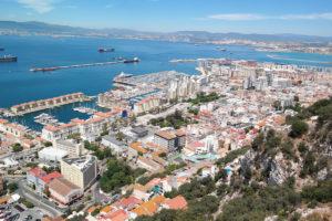 Panorama op Gibraltar