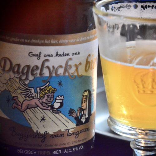 Geen water, maar bier dronken de begijntjes- ééntje voor den dorst en de rest voor 't plezier- Geef ons heden ons Dagelyckx bier!  Smakelijk!