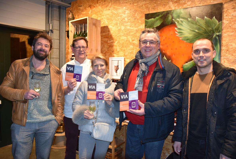 Via Belgica Tim Vanderbeken, Maarten Simonis, Joyce Van Rennes, Chel Emmerix en Peter Neven